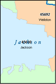 JACKSON County, OH ZIP Code Map