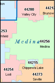 VALLEY CITY Ohio, OH ZIP Code Map