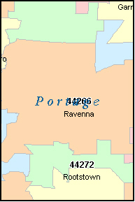 PORTAGE County, OH ZIP Code Map