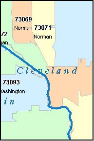 Norman Zip Code Map.Oklahoma City Oklahoma Cleveland Counties Vicinity Audio Books