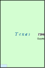 TEXAS County, OK ZIP Code Map