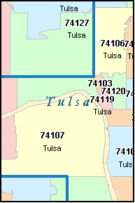 Tulsa Zip Code Map Top Tulsa Ok Zip Code Map Photos   Printable Map   New  Tulsa Zip Code Map
