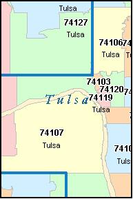 Zip Code Map Tulsa Awesome Zip Code Map Tulsa Images   Printable Map   New  Zip Code Map Tulsa