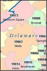 Delaware County Zip Code Map | woestenhoeve on