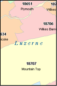 SUGARLOAF Pennsylvania, PA ZIP Code Map