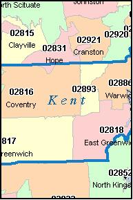 Kent Island Zip Code Map