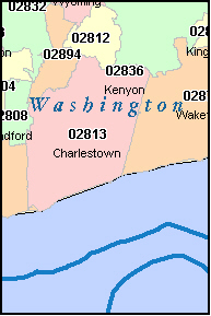 WEST KINGSTON Rhode Island, RI ZIP Code Map