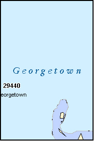 GEORGETOWN County, SC ZIP Code Map