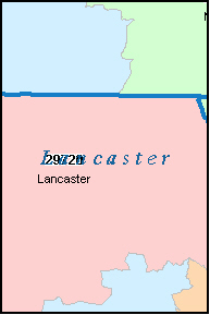 LANCASTER County, SC ZIP Code Map
