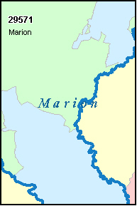 MARION County, SC ZIP Code Map