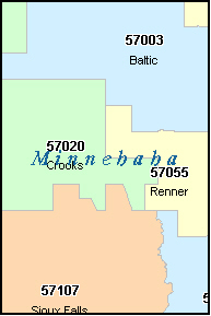 SIOUX FALLS South Dakota SD ZIP Code Map Downloads