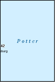 POTTER County, SD ZIP Code Map
