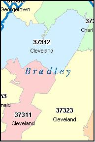 Cleveland Tn Zip Code Map | stadslucht on