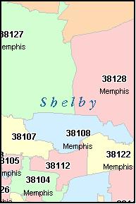 ARLINGTON Tennessee TN ZIP Code Map Downloads