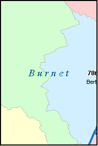 BURNET County, TX ZIP Code Map