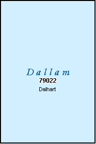 DALLAM County, TX ZIP Code Map