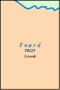 FOARD County, TX ZIP Code Map