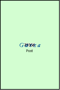 GARZA County, TX ZIP Code Map