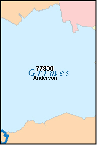 GRIMES County, TX ZIP Code Map