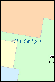 HIDALGO County, TX ZIP Code Map