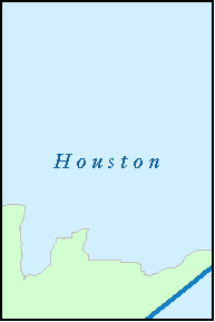 HOUSTON County, TX ZIP Code Map