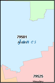 JONES County, TX ZIP Code Map