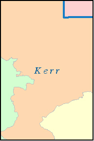 KERR County, TX ZIP Code Map