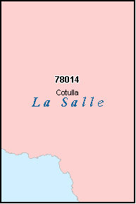 LA SALLE County, TX ZIP Code Map