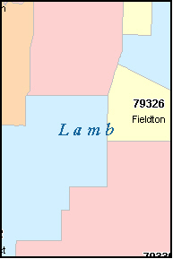LAMB County, TX ZIP Code Map