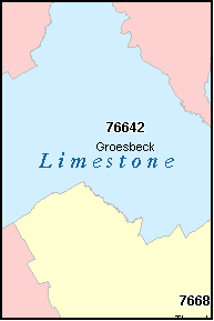 LIMESTONE County, TX ZIP Code Map