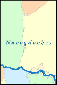 NACOGDOCHES County, TX ZIP Code Map