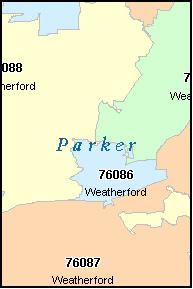 Weatherford Tx Zip Code Map   Zip Code MAP