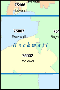 ROYSE CITY Texas, TX ZIP Code Map