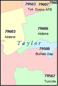 Zip Code Map Abilene Tx Zip Code Map