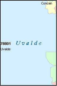 UVALDE County, TX ZIP Code Map