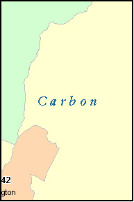 CARBON County, UT ZIP Code Map