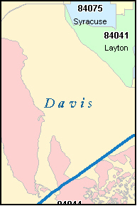 DAVIS County, Utah Digital ZIP Code Map