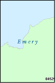 EMERY County, UT ZIP Code Map