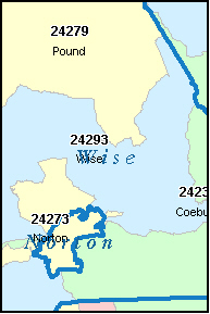 WISE County, VA ZIP Code Map