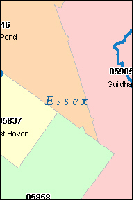 ESSEX County, VT ZIP Code Map