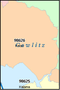 COWLITZ County, WA ZIP Code Map