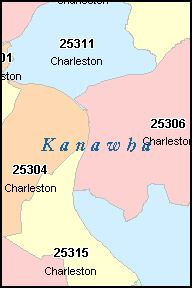 Charleston Wv Zip Code Map Zip Code Map