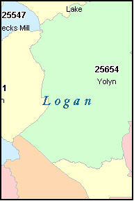 HOLDEN West Virginia, WV ZIP Code Map