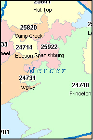 KELLYSVILLE West Virginia, WV ZIP Code Map