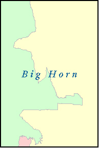 BIG HORN County, WY ZIP Code Map