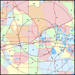ZIP Code Radius Map