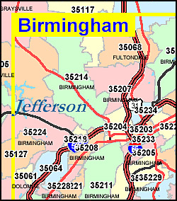 Birmingham Al Zip Code Map Birmingham Alabama Zip Code Map | europeancytokinesociety