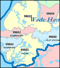 Alaska ZIP Code Map Including County Maps