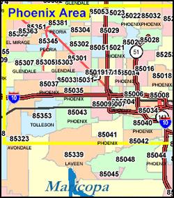 Map Of Phoenix Arizona Zip Codes.Phoenix Zip Code Map Pdf Fysiotherapieamstelstreek