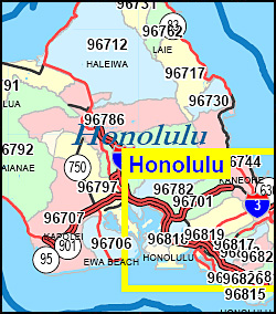 Hawaii ZIP Code Map Including County Maps